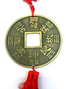 Metal Big Lucky Coin Hanging (4 Inch Diameter Coin) For Good Luck & Prosperity
