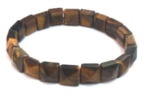Tiger Eye Pyramid Shaped Bracelet (crystal Healing) Fengshui Vastu
