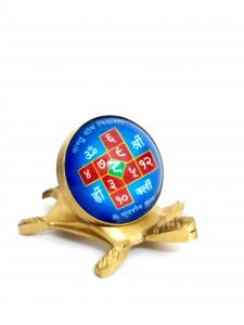 Faith & Beliefs - VASTU DOSH NIVARAN SUDARSHAN YANTRA BRASS TORTOISE FOR VASTU CORRECTION AND PROSPERITY ( CODE - VASTUBRSTTL )