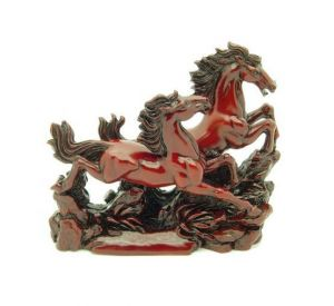 Big Size Feng Shui Two Galloping Horses For Success