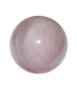Natural Rose Quartz Crystal Sphere ( 100 Grams ) , Rose Quartz Ball