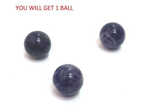 Amethyst 2 Pieces Of (15 MM ) Mini Ball / Sphere