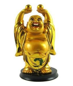 Laughing Buddha Lifting A Huge Gold Ingot Laughing Buddha Feng Shui Buddha