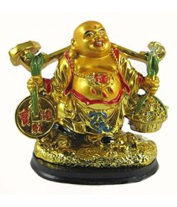 Golden Laughing Buddha For Luck And Success ( Code - Bdsravan )