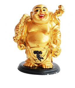 Laughing Buddha Stands Holding The Hemp Sack Of Full Protection Lucky Happy Man