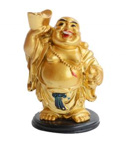 Laughing Buddha Lifting A Ingot And Wu Lou (4.5 Inches) Laughing Buddha