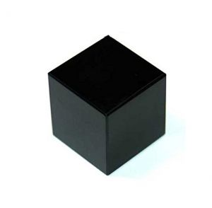 Black Tourmaline Stone 22 MM Cube ( Crystal Healing )