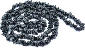 Black Tourmaline Chip Rosary / Mala