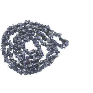 Blue Gold Stone Power Chip Mala Rosary