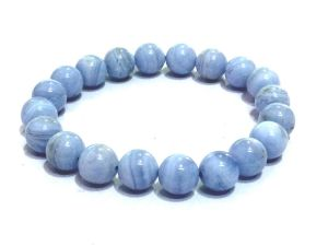 Blue Lace Agate Stretch Bracelet ( 8 MM ) A High Grade Quality