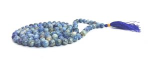 Blue Sodalite Crystal Power Mala Healing Rosary / Mala 8 MM