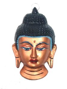 Lord Buddha Face Wall Hanging Home Decor Buddhism Metal Art ( Big )