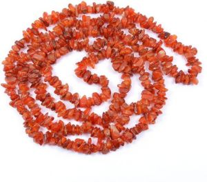 Carnelian Stone Chip Power Rosary / Mala