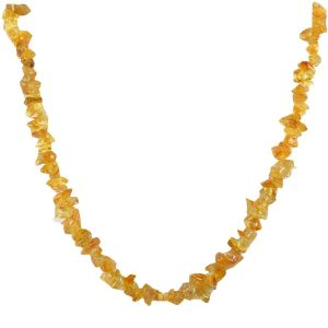 "Citrine"" Crystal Chip Mala For Unisex Healing Gemstone"