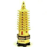 Education Tower Golden Polish Feng Shui Vastu Astrology Pagoda