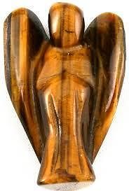 Tiger Eye Stone Angel Figurine Tiger Eye Stone Crystals Healing Crystal