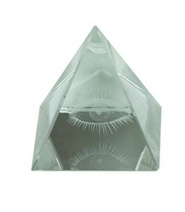 Eye Crystal Glass Pyramid For Good Luck And Positive Energy