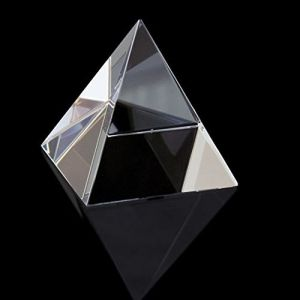 Astrology - CRYSTAL GLASS PYRAMID FOR POSITIVE ENERGY ( 38 MM )