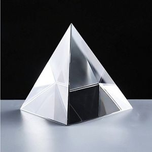 Astrology - CRYSTAL GLASS PYRAMID FOR GOOD LUCK AND POSITIVE ENERGY ( 99 MM )