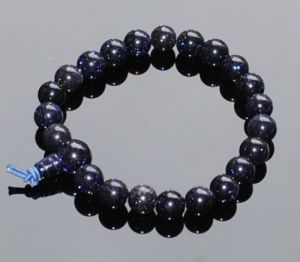 Blue Gold Stone Power Stretch Bracelet ( 10 MM )