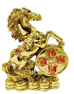 Feng Shui Golden Horse For Victory, Fame And Luck (small )