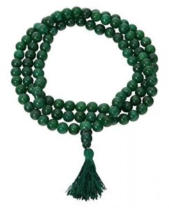 Green Jade Power Rosary / Mala ( 7 MM )