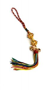 Tibetan Buddhist Golden Dorje / Vajra Tassel Car / Home Hanging