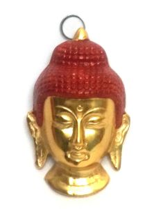 Golden Lord Buddha Face Wall Hanging Home Decor Buddhism Metal Art