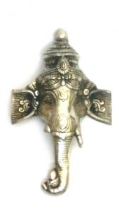 White Metal Ganesh Ji Wall Hanging