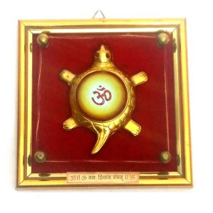 Om Symbol Tortoise Yantram Wall Hanging Frame For Protection And Prosperity