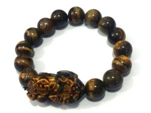 Pi Yao Tiger Eye ( Pi Xiu ) Stretchable Bracelet For Protection, Prosperity And Luck