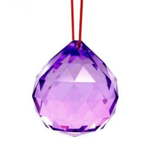 Purple Faceted Feng Shui Crystal Ball ( 40 MM )