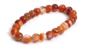 Red Sulemani Hakik ( Agate ) 8 MM Stretch Bracelet