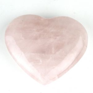 Rose Quartz Crystal Heart ( Code - Roseheart )