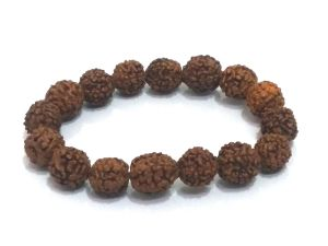 Rudraksha Stretch Bracelet ( 10 MM Bead Size )