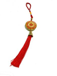 Shree Yantra And Vahan Durghatan Yantra Hanging For Good Luck & Protection