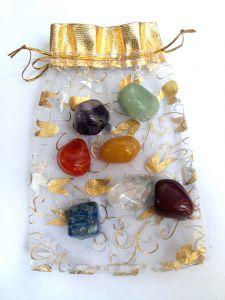 Chakra Stones Bag Fengshui Stones Chakra Stones Personel Kit Natural Crystals