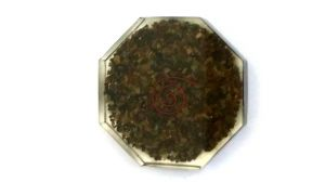 Tiger Eye Stone High Grade Orgone Octagonal Coaster Plate ( 80 MM )
