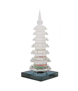 Crystal Glass 7 Level Education Pagoda Tower