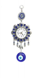 Evil Eye Hanging With Watch For Prosperity And Protection (code - Evlhgwatch )
