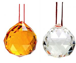 Crystal Ball Yellow / White Colour For Knowledge, Energy And Good Luck - 40 MM Be The First To Review This Item