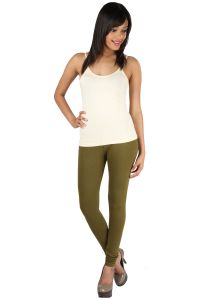 Rham Women's Clothing - Rham Gold Mehandi Color 95% Cotton & 5% Elastane Slim Fit Leggings