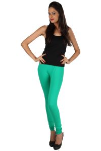 Rham Women's Clothing - Rham Sea Green 95% Cotton & 5% Elastane Full Length 3XL Size Leggings