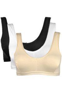 Rham Women's Clothing - Rham Set of 3 Multicolor Cotton Sports Bra