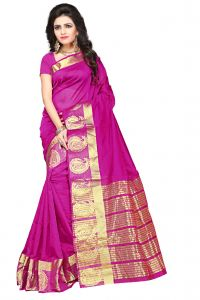 De Marca Rani Colour Manipuri Cotton - Silk Saree (product Code - 350-1101e)