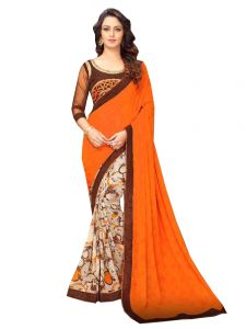 De Marca Orange Banglori Silk Saree (code - 421-226)