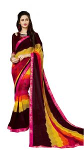 Demarca Multicolor Georgette Saree (code - 588-368)