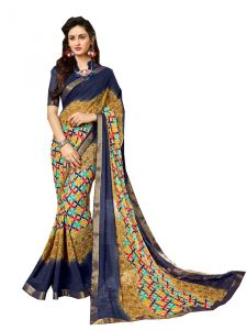 Demarca Multicolor Georgette Saree (code - 588-370)