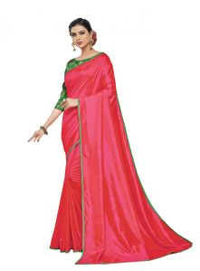 De Marca Red Colour Silk Saree (code - 605-6154)