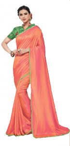 De Marca Orange Colour Silk Saree (code - 605-6157)